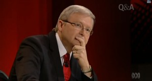 Kevin Rudd speaks about the Bible on ABC's Q&A