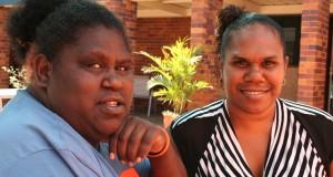 Joya Waia (Weipa) and Ellen Hobson (Bamaga) at the 2013 Grasstree Gathering in Brisbane