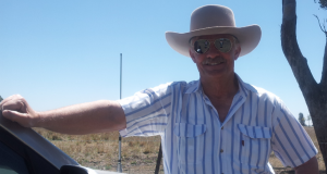 Lifeline Darling Downs rural mobile counsellor Brian Steele on the road.