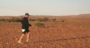 David Holleran, runs across the desert. Photo was supplied.