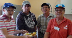 Andy's Place volunteers at Friday lunch. Photo taken by Frank Millett.