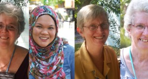 (Left to right) Philippa Core, Dr Nora Amath, Rev Heather Griffin, Rev Suzy Sitton. Photos by Rohan Salmond.