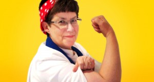 Rev Kaye Ronalds as Rosie the Riveter. Photo by Holly Jewell.