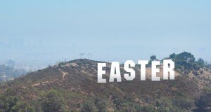 Easter in the words of the Hollywood sign. Graphic: Holly Jewell