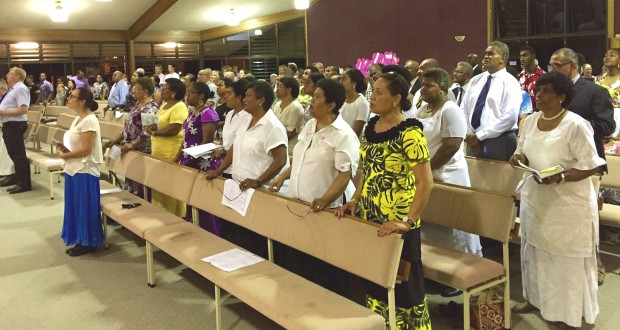 A pastoral service on 20 March at Broadwater Road Uniting Church in Brisbane for those affected by Cyclone Winston. Photo taken by David Busch.