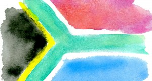 South African flag. Graphic by Holly Jewell.