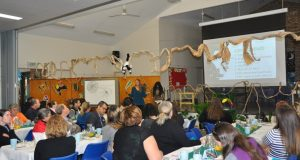 Dr Brenda Heyworth speaks at a Parenting Breakfast event at Redcliffe. Photo: Cynthia Paternott