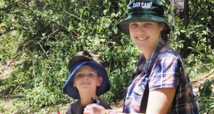 Hunter with camp director Jenny Cameron-Smith. Photo: Holly Jewell