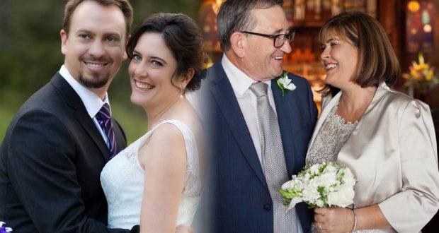 (L-R) Matt and Andrea Hogg; Gary Wallis and Judy Douglas. Photo: Supplied
