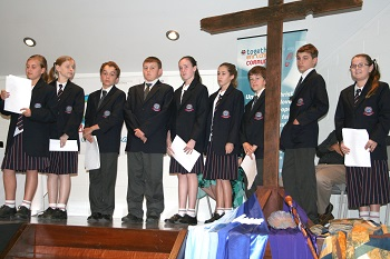 Year seven students from The Lakes College present at the 30th Synod. Photo: Holly Jewell