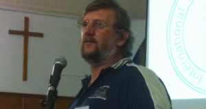 Gary Hardingham speaks at the 2013 Rural Muster. Photo by Rodney Muston