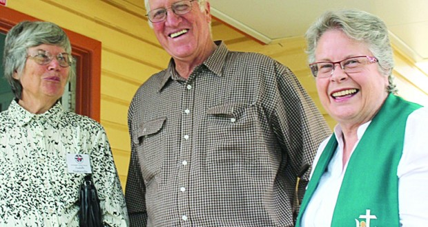 Judith Baskerville,Jeff Taylor and Rev Jenny Sims
