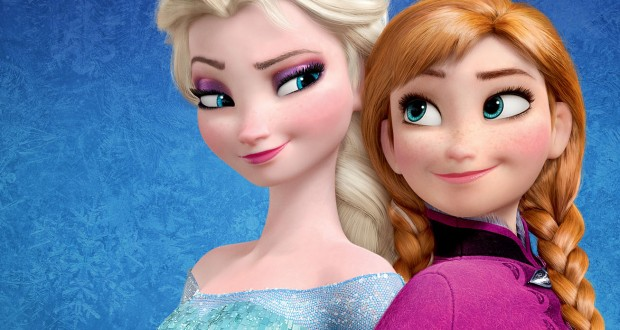 Elsa and Anna from Disney's animated hit film, Frozen.