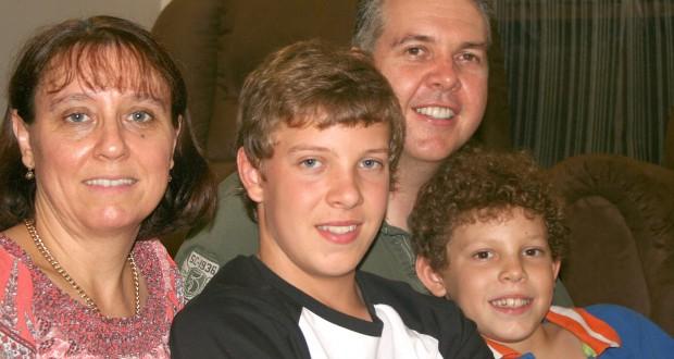 Vicki, Joel, Brian and Zac Robinson.