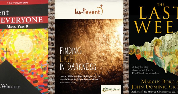 Lent for Everyone, by NT Wright; Lent Event and The Last Week, by Marcus Borg and John Dominic Crossan.