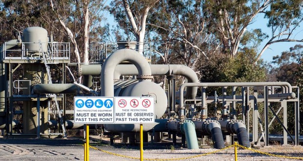Coal seam gas processing facility Rosalind Park, NSW.
