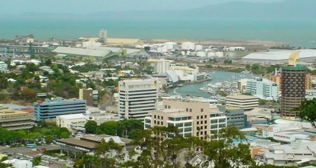 Townsville Queensland view over cdb