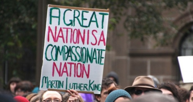 """""""A Great nation is a compassionate nation"""" Martin Luther King"""