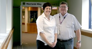 Wesley Hospital clinical nurse Rachel Oxford and Pastorial Care Department Manager, Rev Murrary Fysh.