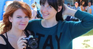 Shawna Howson (Nanalew) and Tessa Violet (Meekakitty) were invited to speak at Easterfest in 2014. Photo: Rohan Salmond
