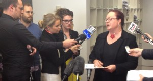 UnitingCare Australia National Director Lin Hatfield Dodds interviewed by the media. Photo taken by UnitingCare.