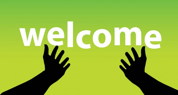Six ways to be a welcoming church banner.
