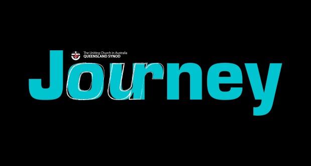 Journey July's magazine cover masterhead