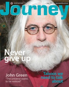 July Journey cover with feature story titles