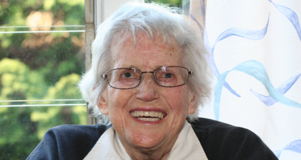 Betty Willis (Order of Australia), at her home in Blue Care Toowoomba. Photo taken by Ashley Thompson.