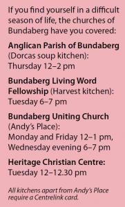 A list of soup kitchens in Bundaberg.