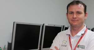 Andrew Coleman (pictured) went from participant to site supervisor. Photo taken by Wesley Mission Brisbane.