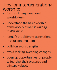 Tips for intergenerational worship