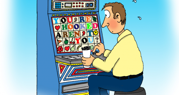 Bruce Mullan explores the ethics of churches accessing gambling revenue. Cartoon by Phil Day.