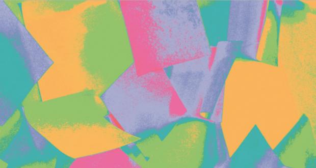 Rainbow colour post-it notes.