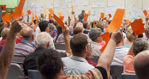Orange cards indicate warmth or approval to an idea.