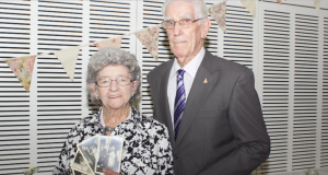 Evelyn and Douglas Levingston celebrated their 40th wedding anniversary at Albert Street's 125th anniversary high tea. Photo by Wesley Mission Brisbane.