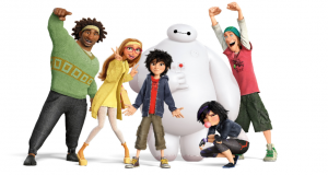 Big Hero 6, Directed by Don Hall and Chris Williams, Starring Ryan Potter, Scott Adsit and Daniel Henney 2014, PG. Photo by Walt Disney Pictures.