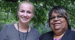 Haileigh Childs (left) from Queensland, and Donna Champion from South Australia, at the UAICC national conference. Photo was supplied.