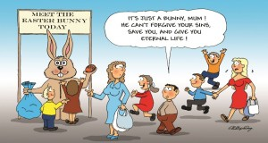 Funny Easter cartoon by Phil Day.