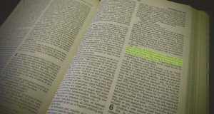 Photo of a Bible by Holly Jewell.