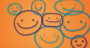 Smiley faces. Graphic by Holly Jewell.