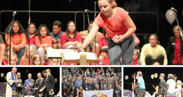 A collection of photo from the Uniting Church 14th Assembly meeting; Hearts On Fire.