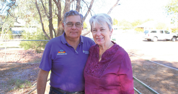 Peter and Rev Jenny Coombes. Photo by Dianne Jensen.