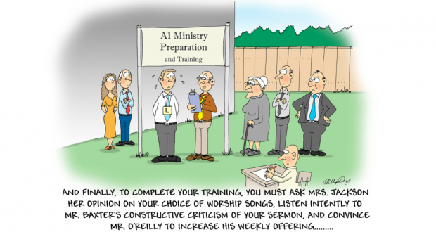 Ministry preparation and training cartoon by Phil Day.