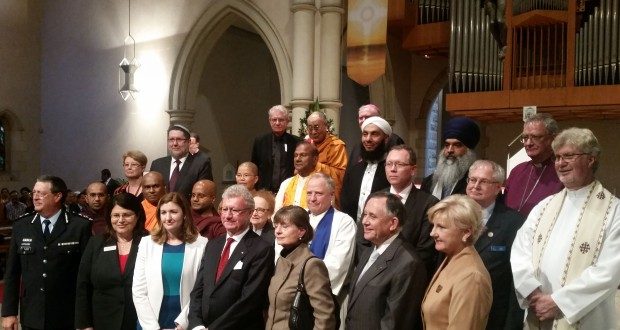 Brisbane's civic and religious leaders gather in St Stephen's Cathedral with the Dalai Lama.