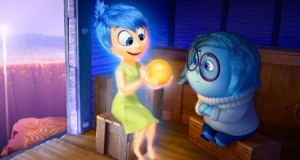 Joy (left) and Sadness (right) in the 2015 animation feature Inside Out. Photo by Disney Pixar.