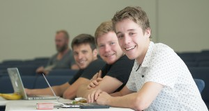 Newlife College students Jason Mountjoy, Joshua Capuano, James Hunt. Photo by Bruce Mullan.
