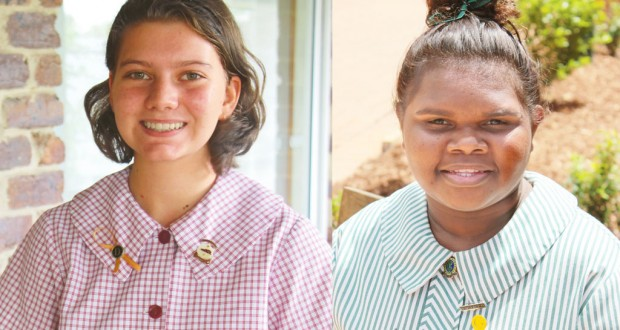 Moreton Bay College student Caitlin Ramsay and Clayfield College student Helen Watson. Photos were supplied.