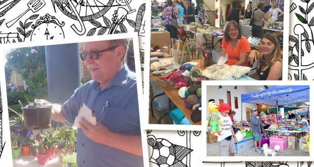 Garage sales at Chermside Kedron Comunity, Sherwood Uniting Church and Paradise Point Uniting Church.