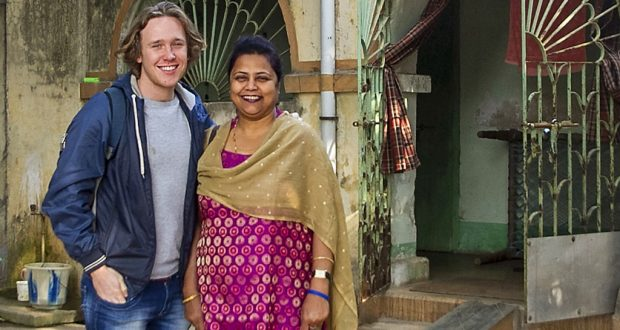 Alex Baker with UnitingWorld's Diocese of Durgapur representative Nita Pyne.